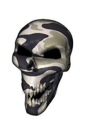 3D Desert Camouflage Skull Decal / Sticker
