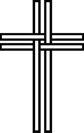 Christian Cross Decal / Sticker 43