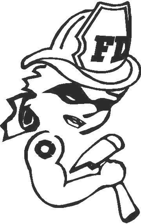 FireGirl 01 Decal / Sticker