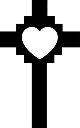 Christian Heart Cross Decal / Sticker 30