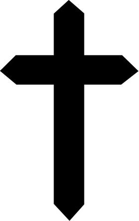 Christian Cross Decal / Sticker 50