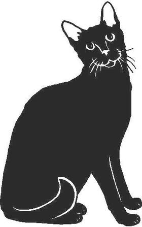 Cat Decal / Sticker 01