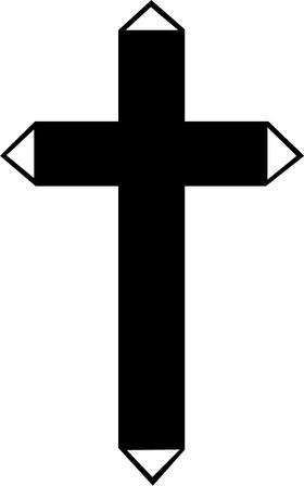 Christian Cross Decal / Sticker 51