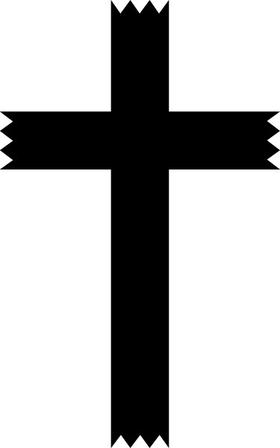 Christian Cross Decal / Sticker 60