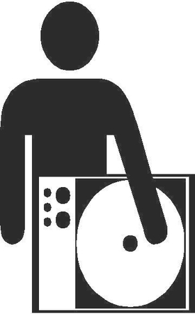 DJ Dee Jay Decal / Sticker 011