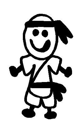 Karate Stick Figure Decal / Sticker