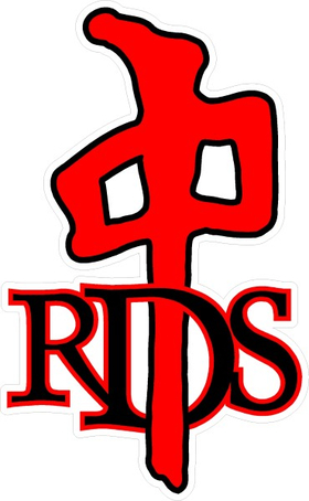 Red Dragon Skate Decal / Sticker 03