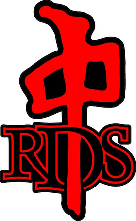 Red Dragon Skate Decal / Sticker 02