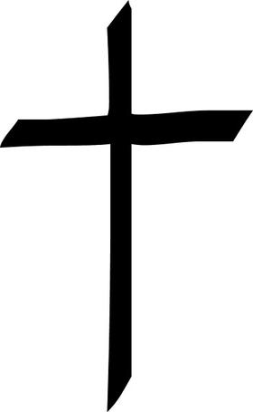 Christian Cross Decal / Sticker 19