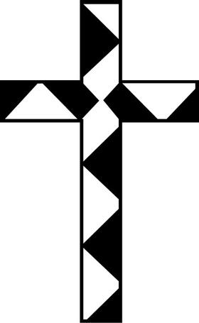 Christian Cross Decal / Sticker 62