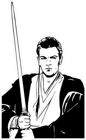 Obi Wan Kenobi Decal / Sticker 02