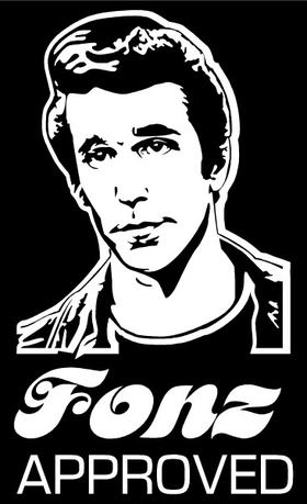 Fonz Approved Decal / Sticker