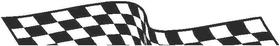 Checkered Flag Decal / Sticker 64