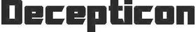 Decepticon Lettering Transformers Decal / Sticker