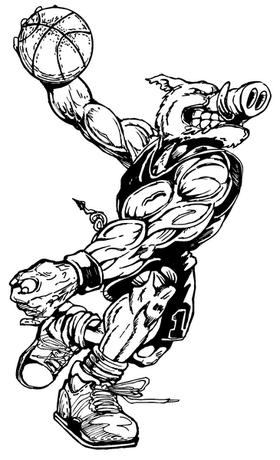 Basketball Razorbacks Mascots Decal / Sticker 5