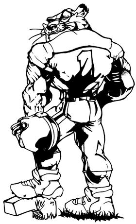 Tigers Football Mascot  02