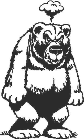 A Bear decal / Sticker