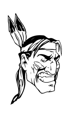 Braves / Indians / Chiefs Mascot Decal / Sticker