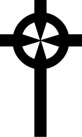 Christian Cross Decal / Sticker 80