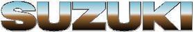 Simulated Chrome Suzuki Lettering Decal / Sticker