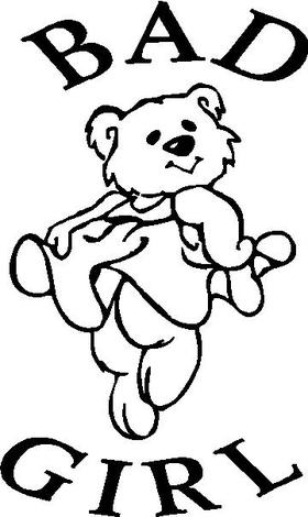 Bad Girl Bear Decal / Sticker