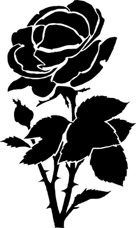 Rose Decal / Sticker 03