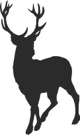 Buck Deer Decal / Sticker 06