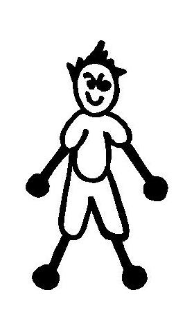 Shorts Boy Stick Figure Decal / Sticker 05