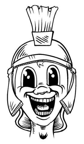 Paladins / Warriors Mascot Decal / Sticker 1