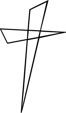 Christian Cross Decal / Sticker 39