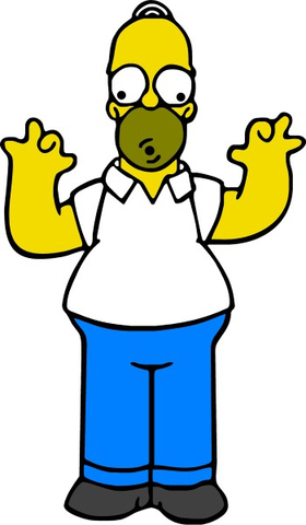 Full Color Homer OOO Decal / Sticker