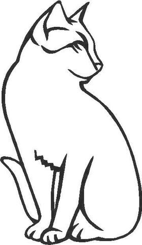 Cat Decal / Sticker 03