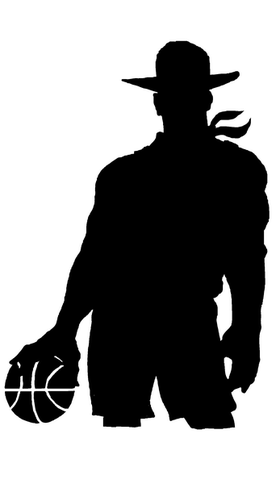 Basketball Cowboys Mascot Decal / Sticker Body 01