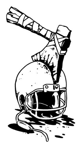 Football Braves / Indians / Chiefs Mascot Decal / Sticker fb10
