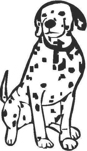 Dalmation Decal / Sticker 02