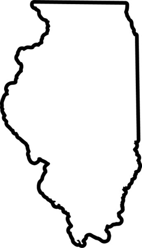 Illinois Outline Decal / Sticker 02