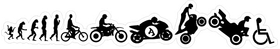 Motorcycle Evolution Decal / Sticker 02
