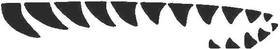 Shark Teeth Decal / Sticker 09