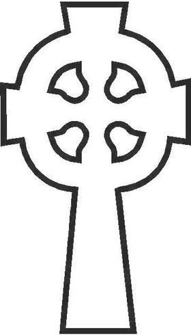 Celtic Cross Decal / Sticker 02