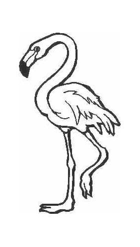 Flamingo Decal / Sticker 02