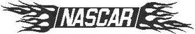 Flaming NASCAR Decal / Sticker 03