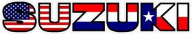 American Holland / Dutch / The Netherlands Texas Flag Suzuki Decal / Sticker 21