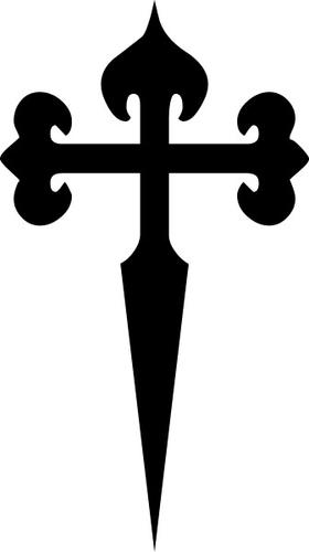 Christian Cross Decal / Sticker 81