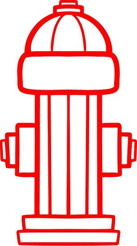 Fire Hydrant Decal / Sticker 01