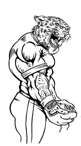Baseball Leopard Mascot Decal / Sticker 2