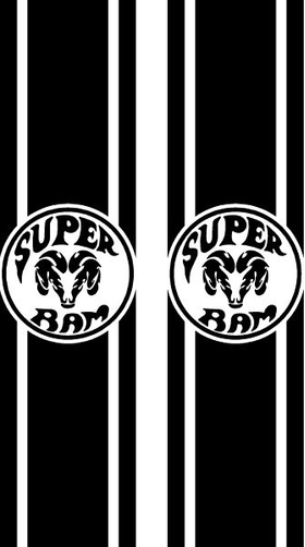 Super Ram Truck Bed Stripes Decals / Stickers 05
