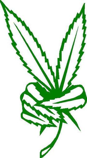 Marijuana Peace Decal / Sticker