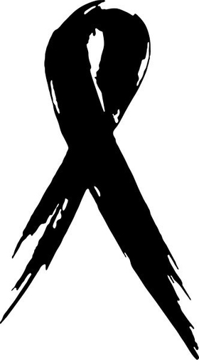Cancer Ribbon Decal / Sticker 04