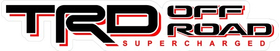 TRD Off Road Supercharged Decal / Sticker 30