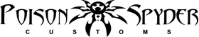 Poison Spyder Customs Decal / Sticker 01